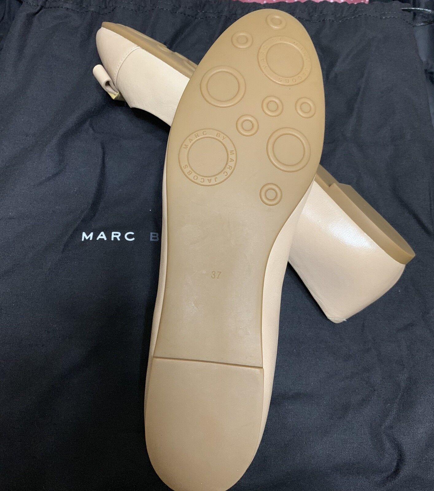 Marc By Marc Jacobs Women's bluee Tuxedo Logo Plaque Plaque Plaque Flats Nude Size 7 EU 37 cbcdf5