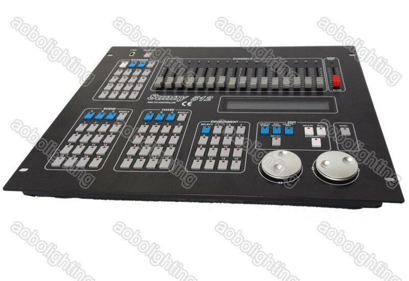 Details about Sunny DMX 512 console DJ Disco Controller stage light Mixer  moving head led par