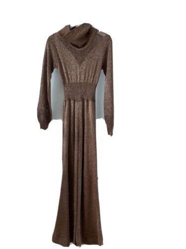 Wenjilli 1977 Vintage Bronze Lurex Jumpsuit