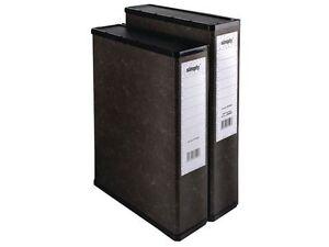1, 2, 5, 10, 20 OR 50 BLACK BOX FILE / FILES / FOLDERS FOOLSCAP / A4 'NEW'*