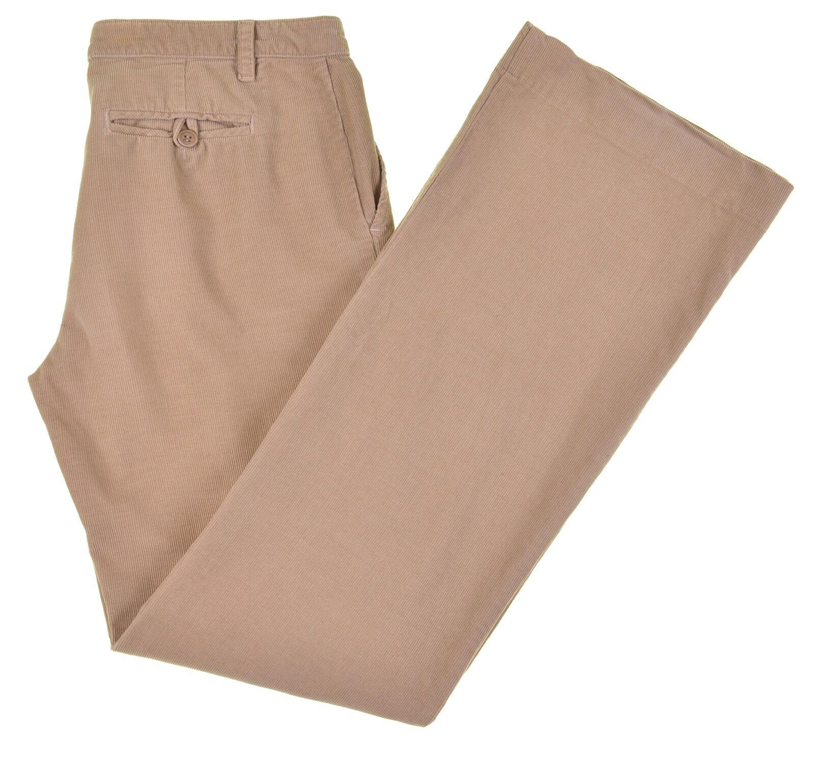 James Perse Khaki Tan Cotton Corduroy Classic Flat Front Casual Pants 30 x 32