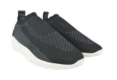 5921e8c7d99 New Mens Filling Pieces Runner Sac Knit Trainers - Black Grey Textile