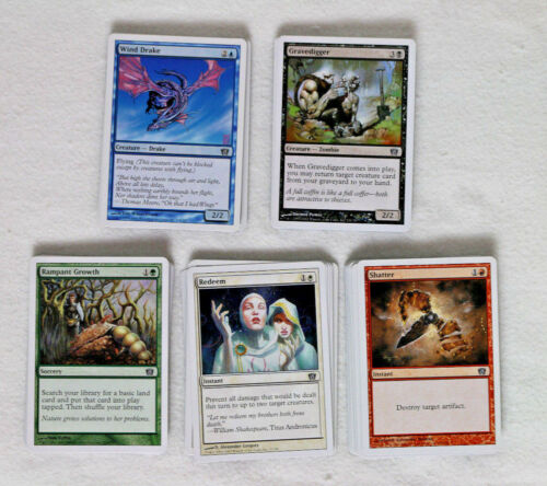 MTG Magic the Gathering 8th Eighth Edition Complete Commons Minty//Unplayed