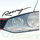 Adesivo sticker RACING auto moto car tuning STYLING NERO 29x7 cm. RNG1