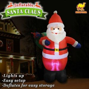 4ft-Inflatable-Santa-Claus-Outdoor-Yard-Decor-Lighted-Christmas-Air-Blown-Gift