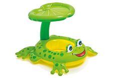 Intex Froggy Friend Shaded Canopy Baby Kiddie Pool Floating Raft | 56584EP
