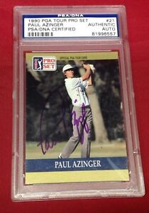 Paul mAzinger signed 1990 Pro Set PGA Tour #21 PSA/DNA # 81996557