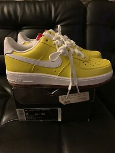 Details about Nike Air Force 1 Premium WBF CHINA DS Men's Size 8 TOUR YELLOW / WHITE Rare