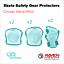 miniature 18 - Roller Skate Safety Gear Protecteurs-croxer taille moyenne-Runner Noir Ou Vert Menthe