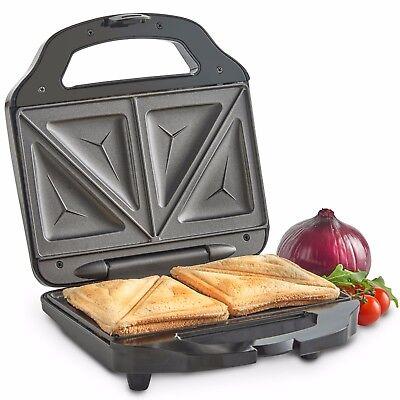 VonShef Toastie Maker 2 Slice Sandwich Toaster Machine Non-Stick Easy Clean 700W