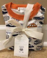 Pottery Barn Kids Organic Car Pajama Set 2t Years Orange
