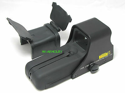 HKA 552 Long Type Red/Green Dot Sight With Cover For Airsoft (BLACK) UK