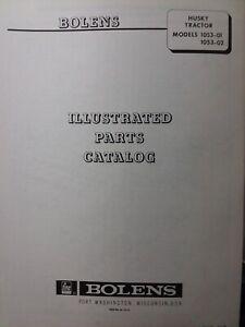 Bolens Husky FMC 1253 -01 Lawn Garden Tractor Parts Manual 1253-02 Tube  Frame | eBayeBay