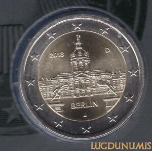 Allemagne 2018 2 Euro J Hambourg BU FDC Berlin Chateau Charlottenburg provenant
