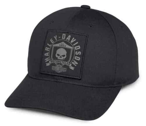 Harley Davidson Mens Willie G Skull Shield Patch Baseball Style Cap 99492-17VM