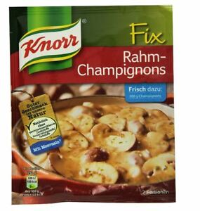 12-x-KNORR-FIX-RAHM-CHAMPIGNONS-MUSHROOM-SAUCE-COOKING-ORIGINAL-FROM-GERMANY