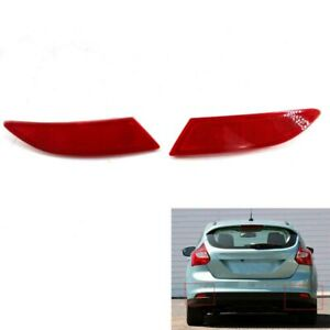 1-Pair-of-Rear-Bumper-Reflector-new-Fit-for-Ford-Focus-2012-2015-BM51515COAE-Red