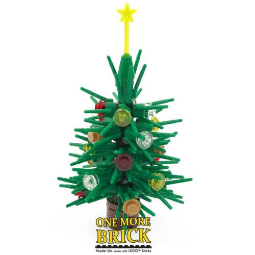 Made with real LEGO Christmas winter pine tree Xmas Tree 10cm
