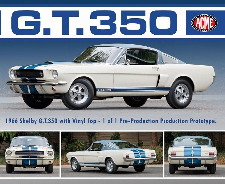 ACME 1 18 1966 Mustang Shelby GT 350 Prödotyp med Vinyl Top