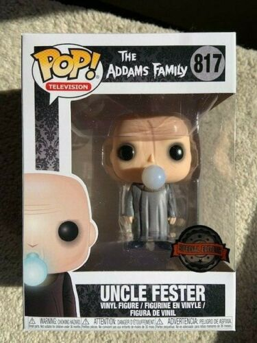 Uncle Fester With Lightbulb Addams Family Funko Pop Vinyl New in Mint Box