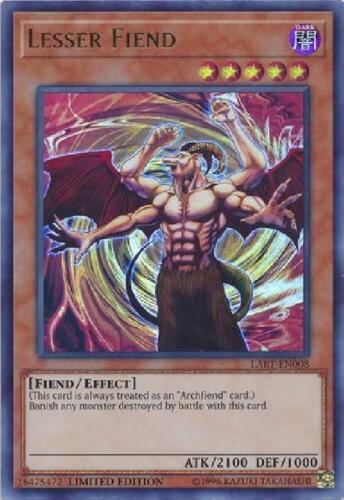 Sealed NM Yugioh Promos Yu-Gi-Oh! LART-EN008 Ultra Rare Lesser Fiend