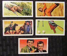 1963 THE WILD WEST Barratt Trading Card LOT of 5 VG- to FN+ #2 8 27 35 45