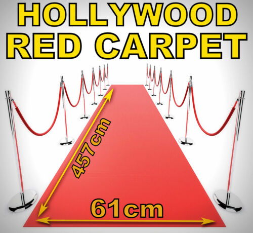 2 x 15ft//5M Hollywood VIP Premiere Party Fake Pretend Red Carpet Runner X14 120