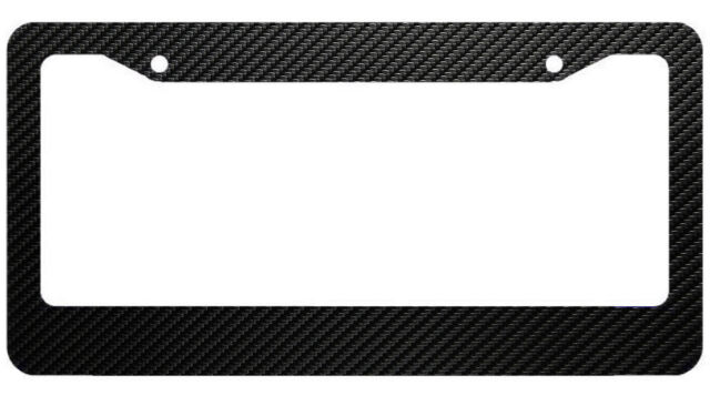 JDM Black Carbon Look License Plate Frame Front /& Rear Universal DIY