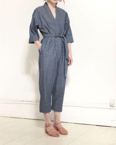 Jesse Kamm Kimono Jumpsuit CHAMBRAY M/L Blue cover