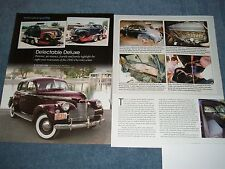 "1940 Chevy Special Deluxe Sport Sedan Restoration Article ""Delectable Delue"""
