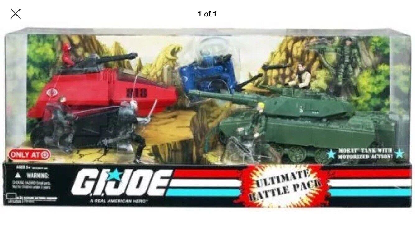 Gi Joe Excl.25th aniversario de destino Ultimate Battle Pack silbido Mobat tanques Nuevo En Caja