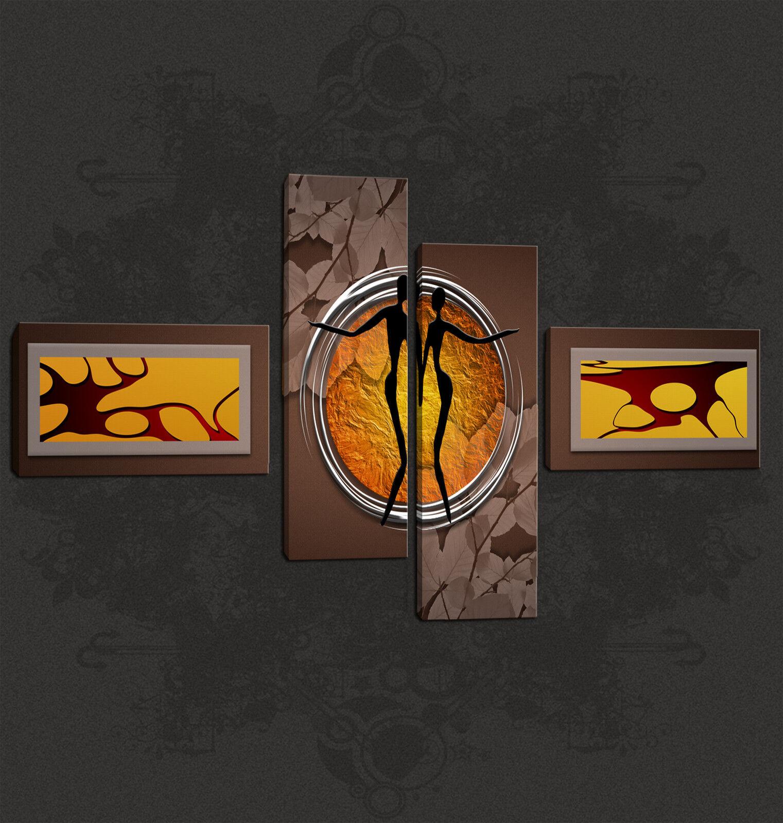 Design Astratto AFRICA amanti Cascata Wall art canvas print pronto da appendere