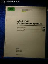 Sony Bedienungsanleitung MHC 771 / 695 Mini Component System (#1807)