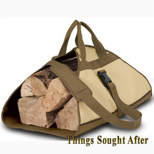 Image Is Loading Firewood Log Carrier Fire Wood Tote Canvas Carrying