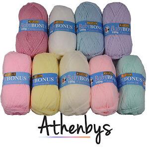 Hayfield-Baby-Bonus-DK-Double-Knit-Yarn-Wool-Fantasic-Value-LATEST-SHADES