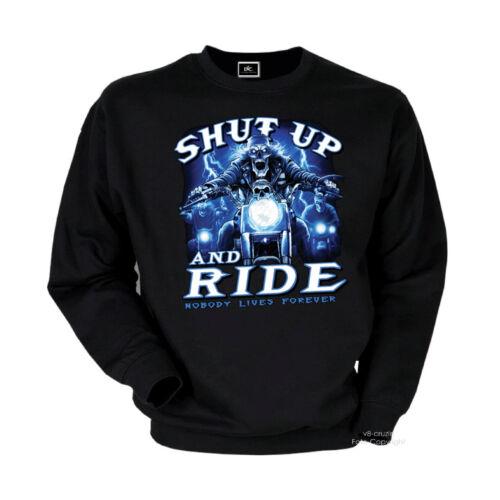 Biker Sweater Pullover hardcore Rider STREETFIGHTER Choppers Felpa 4140 BL
