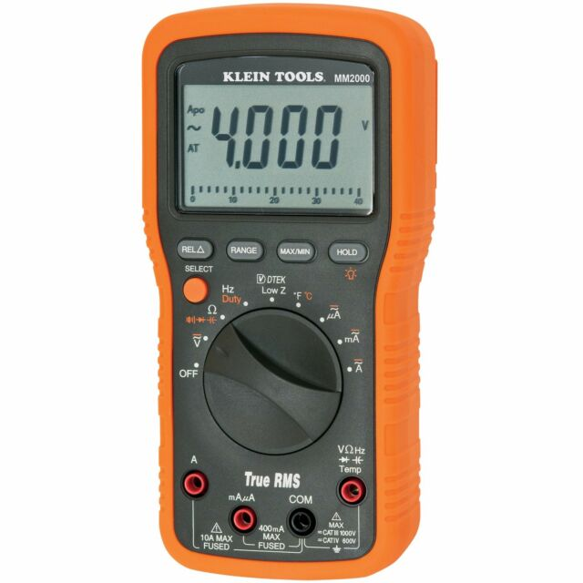 Klein Tools MM2000 Electrician's / HVAC TRMS Multimeter