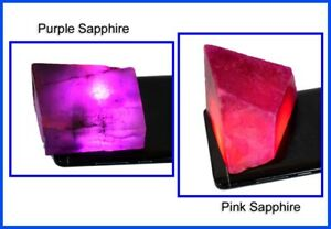 AAA Quality Pink & Purple Sapphire 800 Ct/2 Pcs Natural Gemstone Polished Rough