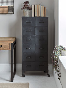 Cox & Cox Office Stylish Black Industrial Style Iron Cabinet - RRP £395
