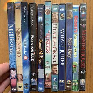 (11) DVD LOT Family Children's Movies Disney Ratatouille, Wall.E, Monster House