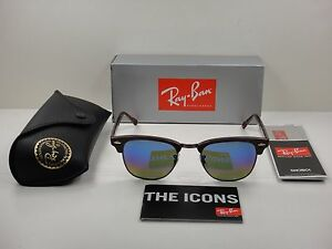 03a5544fa91 Image is loading RAY-BAN-CLUBMASTER-SUNGLASSES-RB3016-1222C2-BORDEAUX-BLUE-