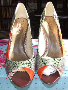 Poetic 7 Uk £99 Rrp Bnwb Licence High Surrender Heels Orange x70qqvpdw