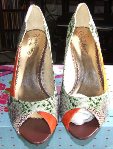 Licence Rrp 7 Bnwb £99 Uk Surrender Heels High Orange Poetic PCw7qB