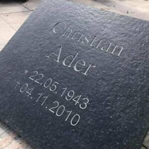 Grabkissen Grabstein Granit Liegeplatte Kissenstein Urnengrab 40x40x3cm matt NEU