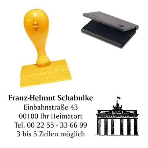 """Adresses tampon /""""PORTE DE BRANDEBOURG/"""" avec coussins-sociétés cachet Berlin"""