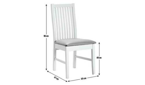 White Home Paris Pair of Skirted Dining Chairs