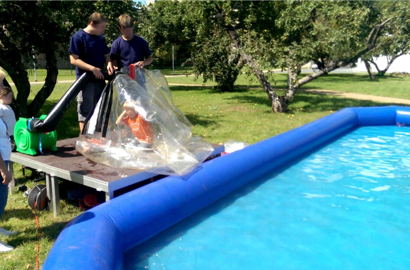 Gebläseschlauch für Wasserlaufbälle schneller aufblasen aufblasen aufblasen Wasserball Schlauch 520172