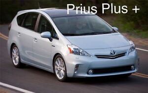 toyota prius plus 7 seater 2012 2013 window visor deflector sun rain guard smoke ebay. Black Bedroom Furniture Sets. Home Design Ideas