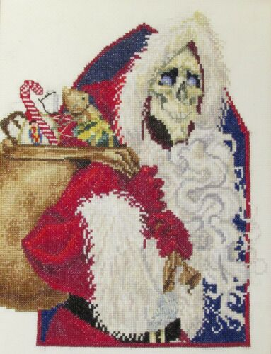 Discworld Hogfather counted cross stitch kit//chart 14s aida