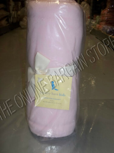 Pottery Barn Kids PBK Micro Fleece Soft Baby Stroller Blanket Pink 30x40